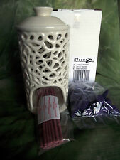 Ceramic Arabesque Incense Burner, Cones & Sticks 14cm Kleeneze New Sealed Box