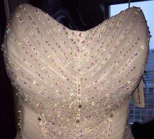 DEMETRIOS Trunk Show Wedding Dress. Corset with Stunning Ruffle Skirt! Brand New