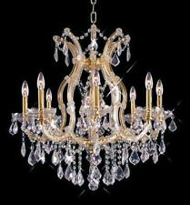 Palace  Maria Theresa 9 Light Crystal Chandelier Dining light  Gold 26x26