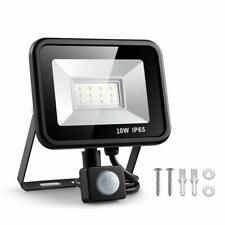 Eslas LED Flood Light 10W PIR Motion Sensor Lamp Outdoor Garden UK Cold White