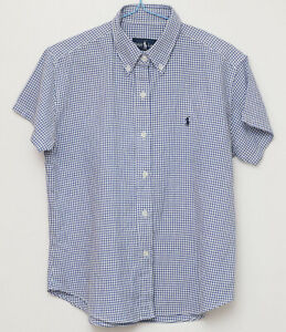 Ralph Lauren size XL blue checked patterned shirt short sleeved casual wear