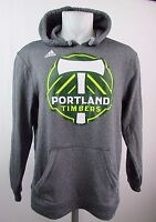 Portland Timbers Men M L Big Logo Hooded Sweatshirt adidas Climawarm MLS A9ML