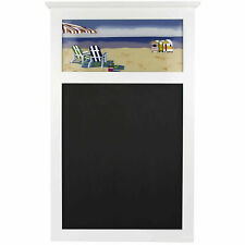 Blackboard - Art Deco Glass Beach Scene