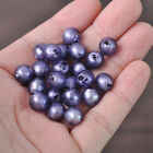 10pc 10mm Blue Purple Round Silver Foil Loose Spacer Lampwork Glass Beads Craft