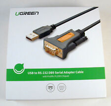 UGREEN USB to RS-232 DB9 Serial Adapter Cable Prolific PL2303 Chipset Free Ship