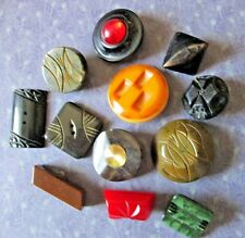 VINTAGE BUTTONS*Collection of 12 Med/Large CHUNKY FUNKY Buttons (some BAKELITE)