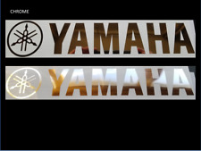 2 x YAMAHA Tuning fork style Tank decal Chrome + colours