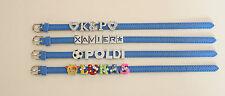 Blaues Armband mit Namen für Kinder und Erwachsene