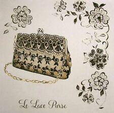 Marco Fabiano: Le Lace Purse Mode Fertig-Bild 30x30 Wandbild Fashion Style Kult