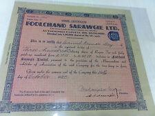 FOOLCHAND SARAWGI CALCUTTA EQ 300 STOCK SHARE CERTIFICATE REV INDIA 1950