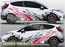 Ford Fiesta RALLY 001 splatter racing decals stickers graphics vinyl