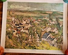 Auvers Village Panorama by Paul Cezanne 1967 Canvas Print  Art Institute Chicago