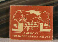 Vintage Matchbook Cover Q8 Palm Springs California America's Foremost Resort