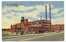 Ohio Leather Company Factory Girard OH linen postcard