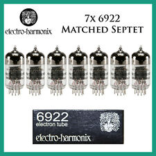 New 7x Electro Harmonix 6922 / 6DJ8 | Matched Septet / Seven Tubes