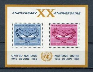 19889) United Nations (New York) 1965 MNH 20th Of ONE S/S