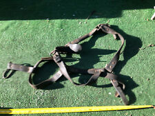 """New listing Antique Stable Leather Strap Work Horse Halter, Most are 1 1/4"""" wide; Fast S&H"""
