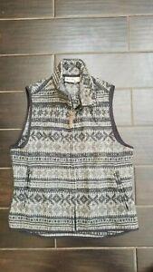 Women's WOOLRICH gray/black wool vest made in USA Sz. S