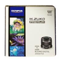 Olympus M.ZUIKO DIGITAL 25mm F1.8 Black Lens Micro Four Thirds from Japan New
