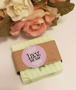 Lav Homemade Handmade Soap Eucalyptus Scented Cold Process Regular Size 1 Bar