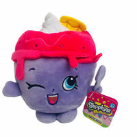 Shopkins Ice Cream Queen Plush Purple Pink Christmas Stocking Stuffer Gift 6""