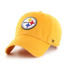 PITTSBURGH STEELERS NFL 47 BRAND YELLOW SLOUCH CROWN ADJUSTABLE HAT/CAP NEW