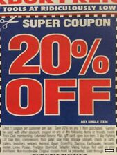 Harbor Freight Coupons For Sale Ebay