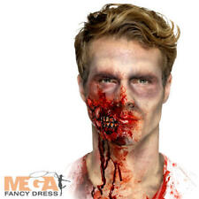 Latex Zombie Jaw Prosthetic Halloween Fancy Dress Scary Fake Costume Accessory
