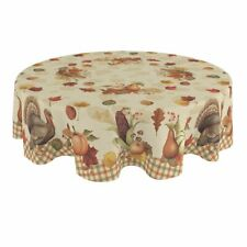 Laural Home Bountiful Harvest 70 Inch Round Tablecloth