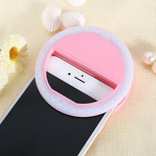 HOT Selfie LED Ring Flash Fill Light Clip Camera For Phone iPhone Samsung HTC