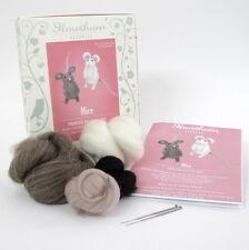 Needle Felting Kit - Make Own Little Mice - British Wool Design Craft Gift Mouse