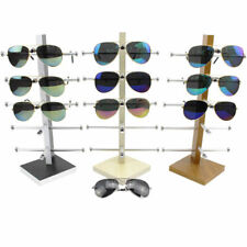 Metal Branches Wood Sunglasses Eyeglasses Rack Display Stand Case Show Holder