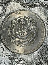 1904 CHINA EMPIRE Dollar DRAGON COIN STERLING SILVER ASH TRAY/DISH~WITH HALLMARK