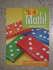 Harcourt THINK MATH K Kindergarten Lesson Activity Book 2008 NEW Condition