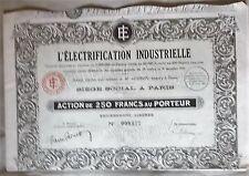 """France action """" L' Electrification Industrielle """""""