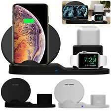 3 in1 Qi Wireless Charger Charging Dock For iPhone X Xs Max Apple Watch Airpods