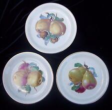 3 Bavaria Fruit Harvest Plates Pear Apple Walnut Rosenthal Selb Plossberg German
