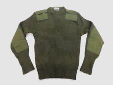 USMC US Marine Dress Military Green Sweater Service Wool Epaulettes Sz 38 EUC