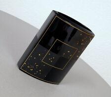 Rosenthal Studio Line Porzellan Design Vase Blumenvase Tischvase Schwarz Gold