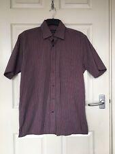 VAN HEUSEN men's Pinstripe Shirt Size M 15.5 Inch