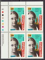 CANADA #1293 39¢ Agnes MacPhail UR Inscription Block MNH