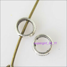 35Pcs Tibetan Silver Round Circle Spacer Beads Frame 6mm
