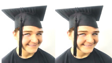 X2 College University Academic Graduation Mortarboard Hat Cap School Days 2 Pack