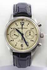 Bell & Ross Vintage 126 Automatic Chronograph 18k White Gold 39mm Watch