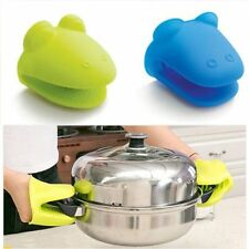 Silicone Hippo Shaped Microwave Oven Mitt Heat Insulated Glove Kitchen Tool Cute