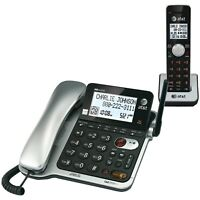 AT&T AT&T CL84102 DECT 6.0 Corded/Cordless Phone System with Digital Answering S