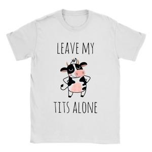 Leave Them Alone Mens T-Shirt Vegan Vegetarian Cows Milk Gift Present