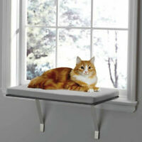 Pet Kitty Kitten High Hammock Window Cushion Bed Hanging Shelf Cat Perch Seat US
