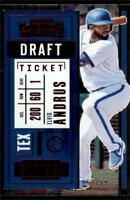 2020 Contenders Draft Ticket Red #4 Elvis Andrus /99 - Texas Rangers