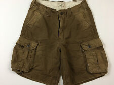 HOLLISTER Mens 30 CARGO Brown Factory Faded Worn In Look Tag Size 30 30x9